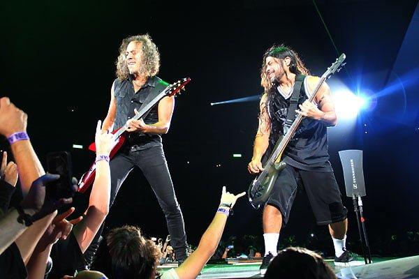 Metallica Robert Trujillo Kirk Hammett