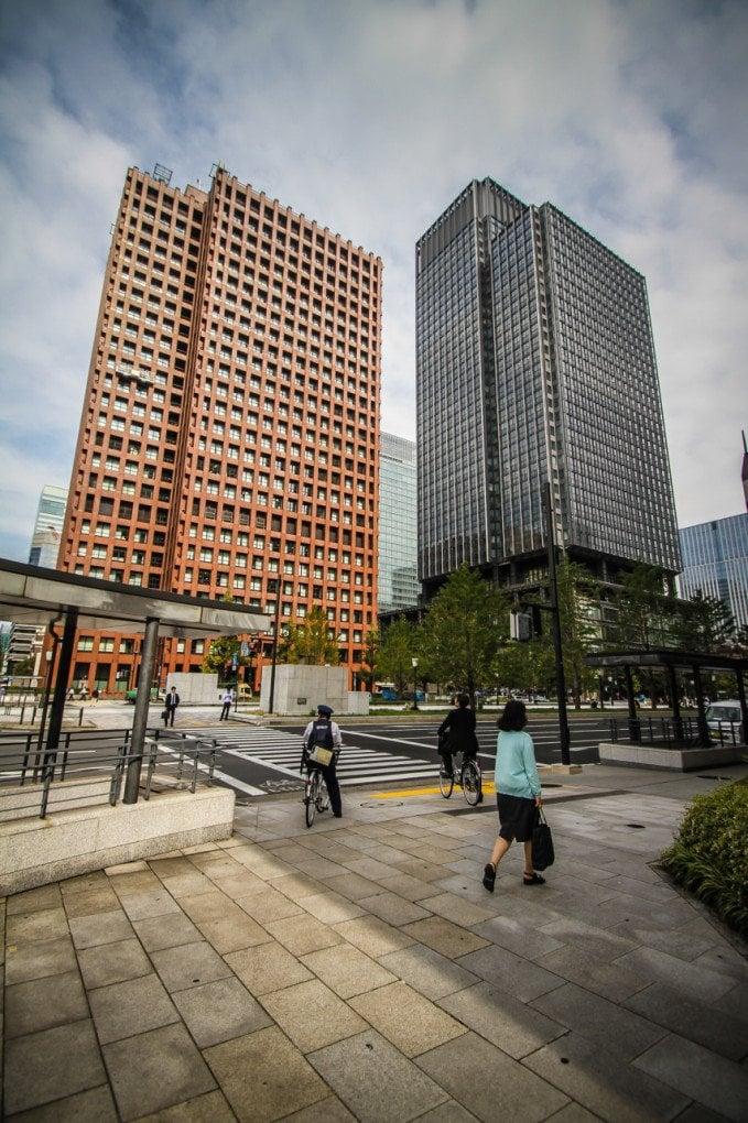 Edificios de altura en Ginza
