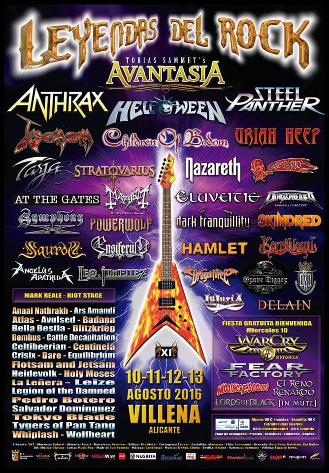 leyendas del rock poster 2016