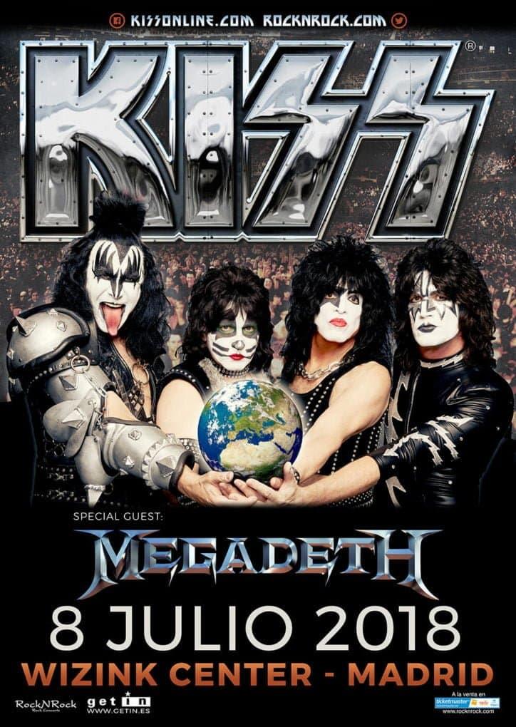 Kiss Madrid Megadeth 2018