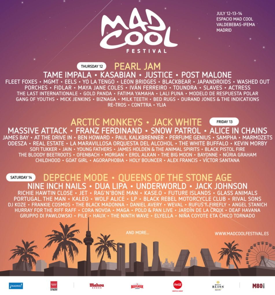 Cartel Mad Cool 2018