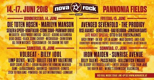 Cartel Nova Rock 2018