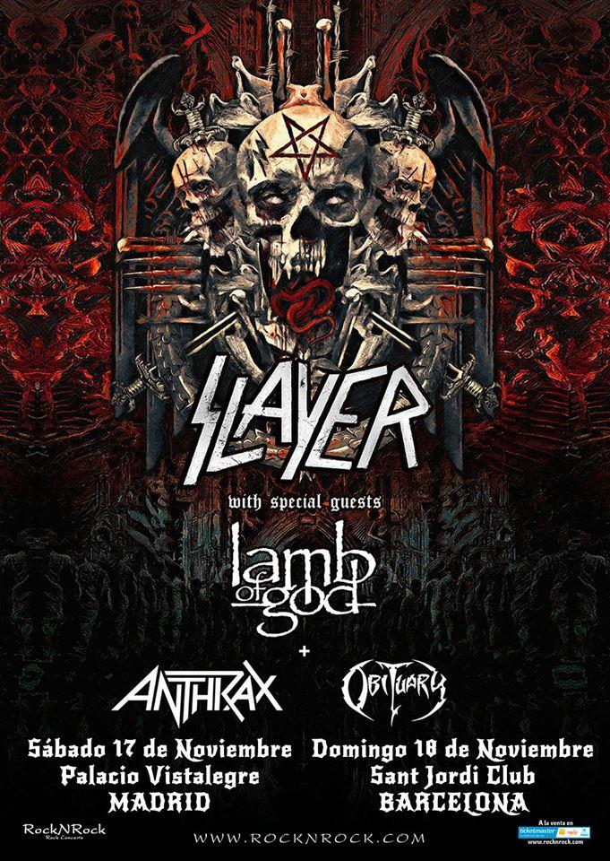 Despedida Slayer España 2018