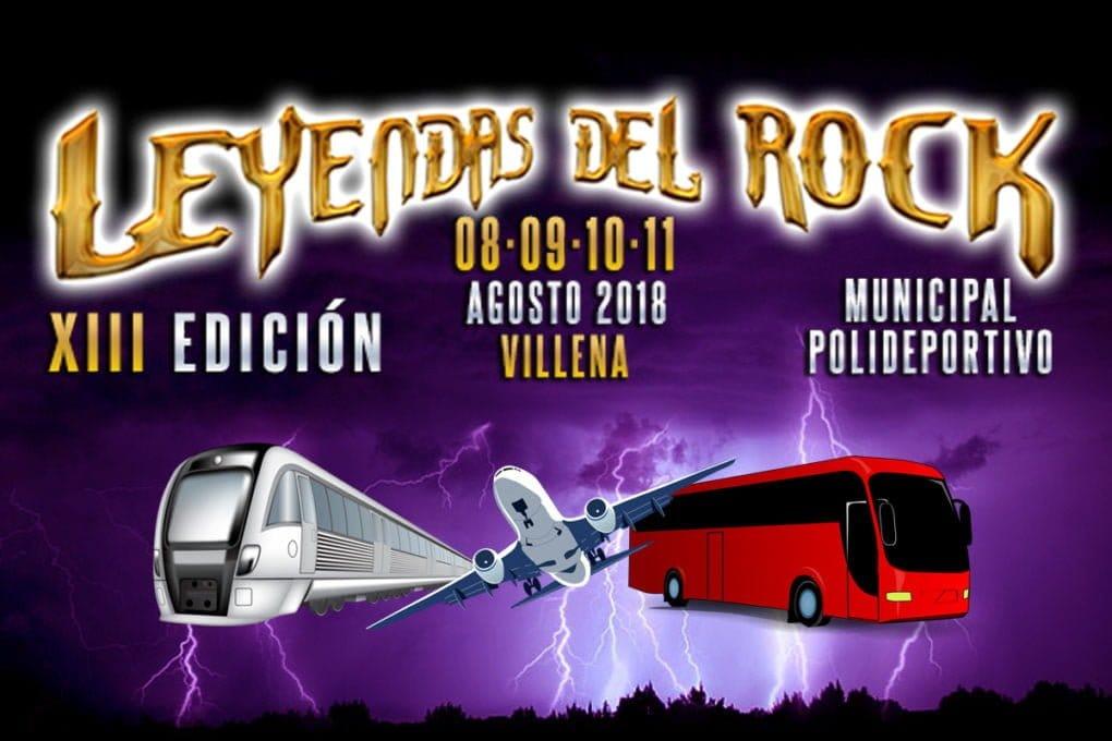Viajes organizados Leyendas del Rock 2018