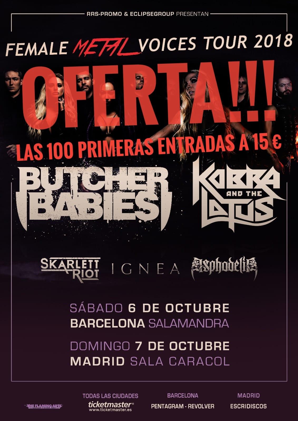 Butcher Babies Kobra And The Lotus España 2018