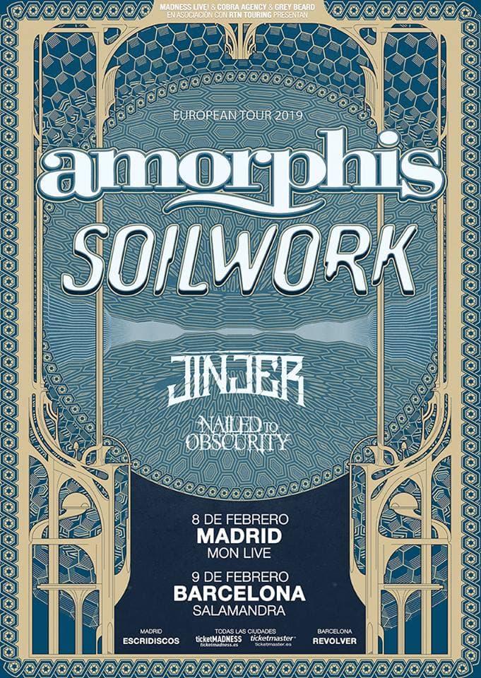 Amorphis Soilwork Jinjer Nailed To Obscurity España 2019