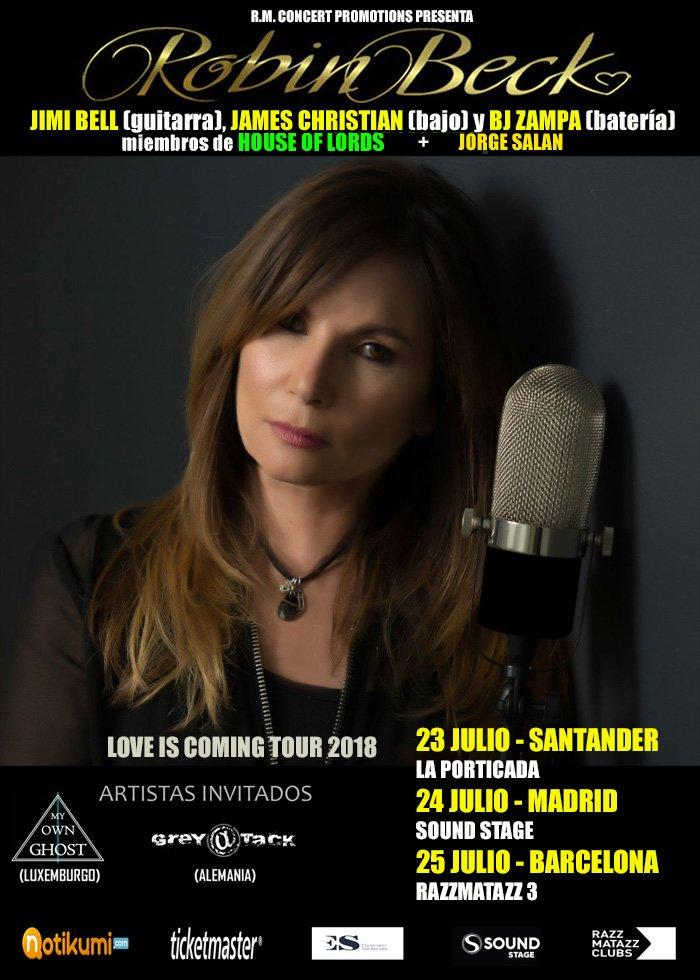 Robin Beck España 2018