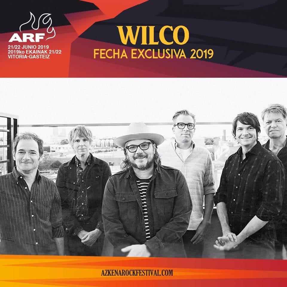 Confirmación Wilco Azkena Rock Festival 2019