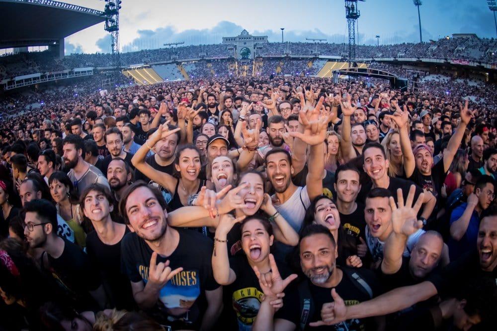 Público Guns N' Roses Barcelona