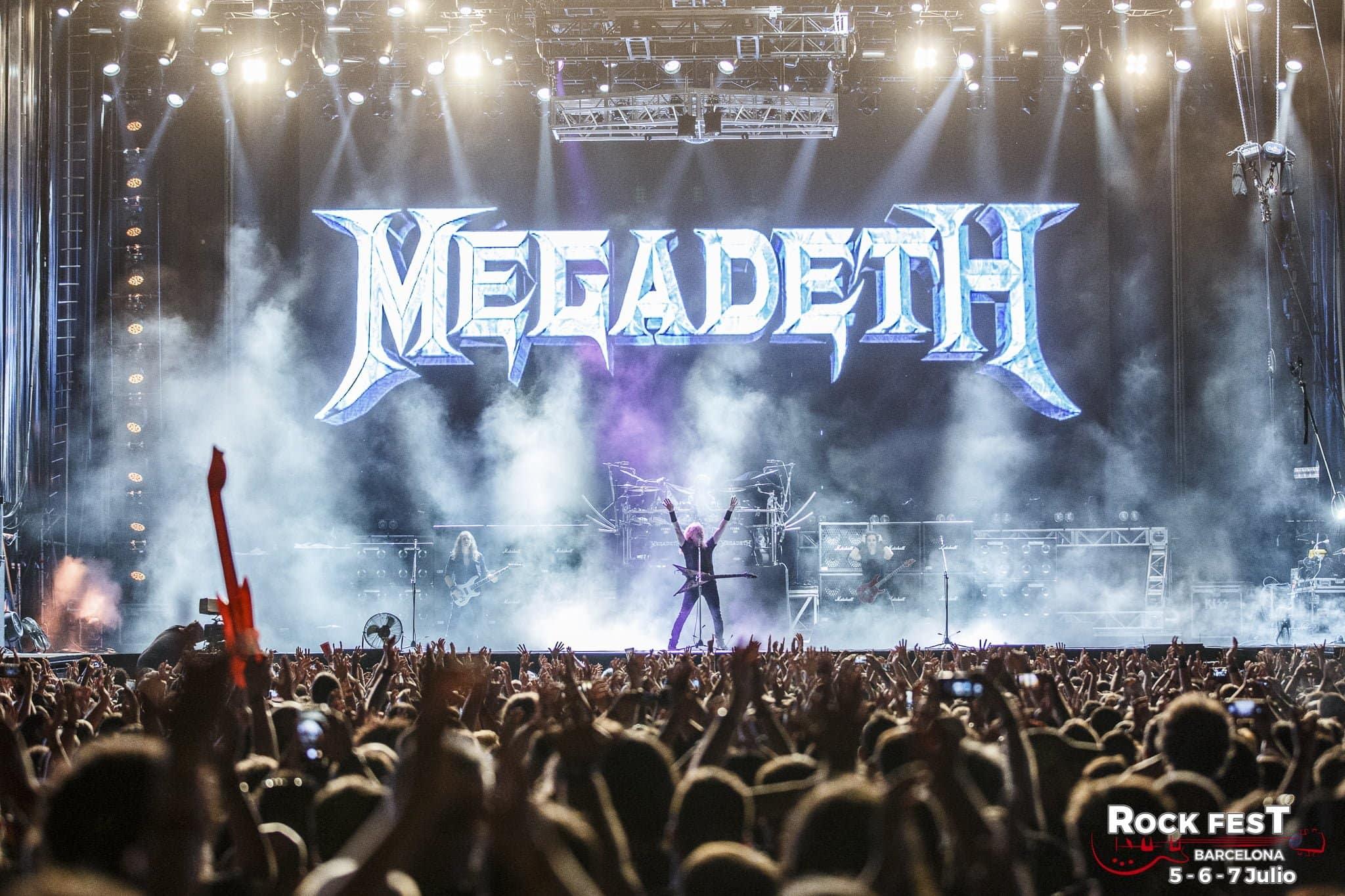 Megadeth Rock Fest Barcelona 2018