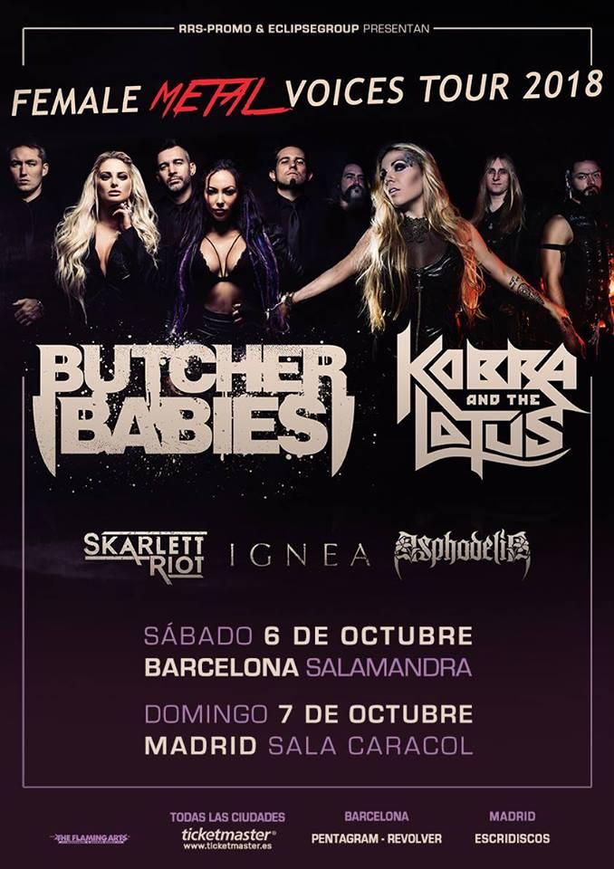 Butcher Babies Madrid Barcelona 2018