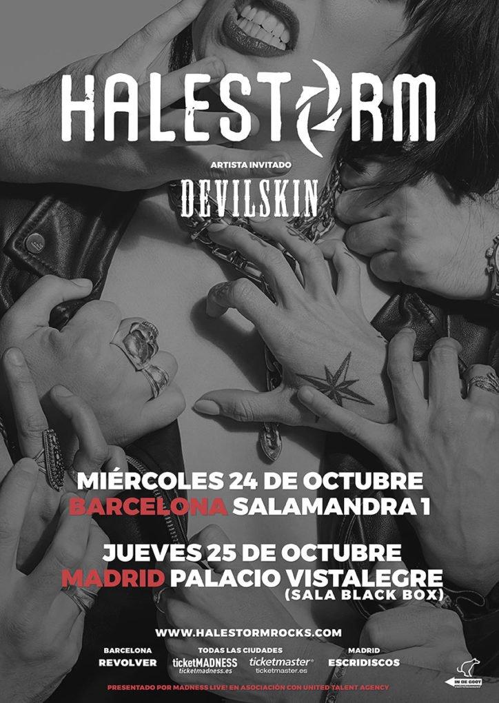 Halestorm Barcelona Madrid 2018