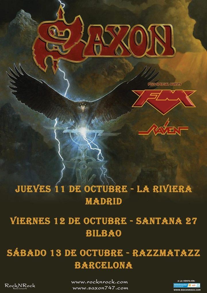 Cartel Saxon España 2018 actualizado