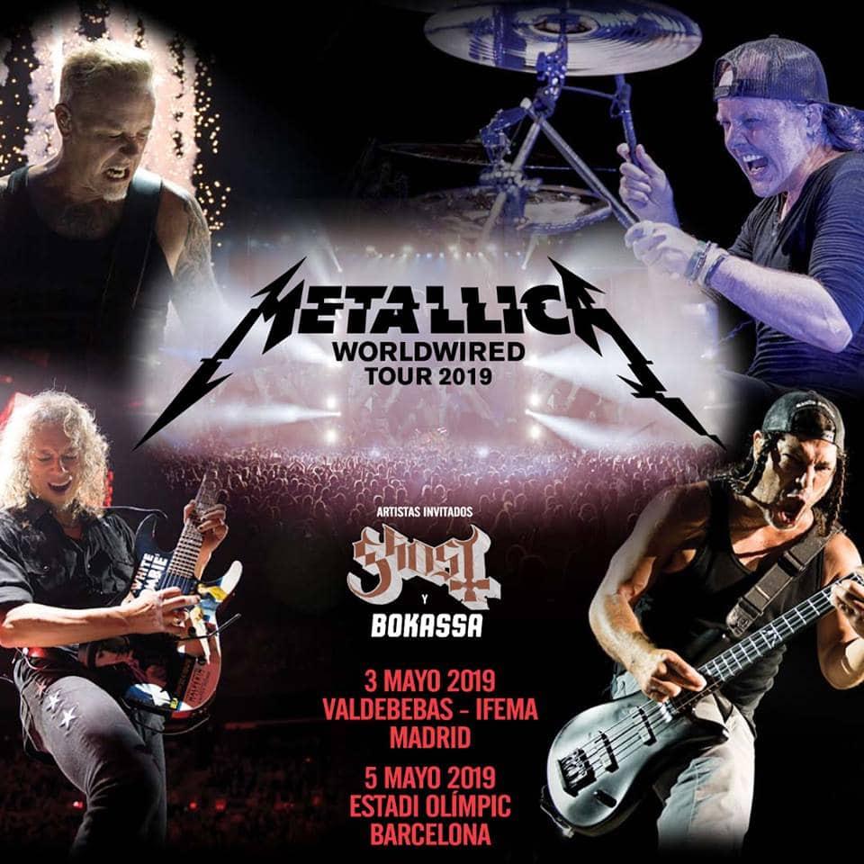 Metallica España 2019 Madrid Barcelona