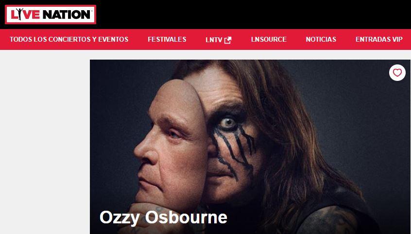 Preventa Entradas Ozzy Osbourne 2019