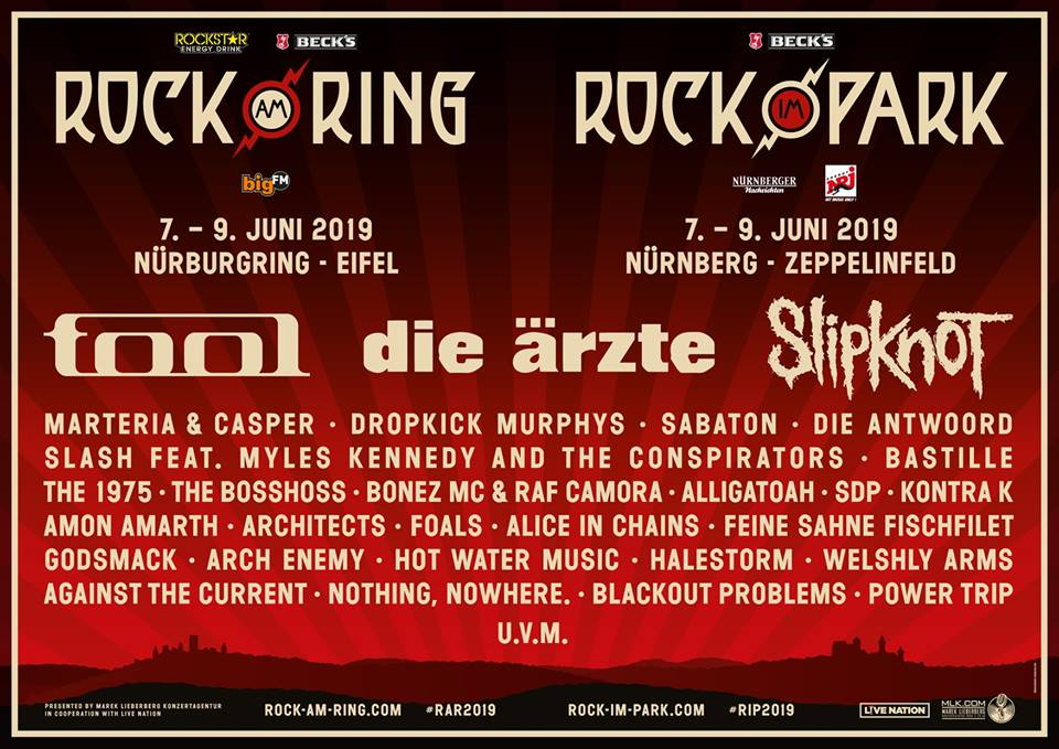 Rock Am Ring Rock Im Park Slipknot Tool