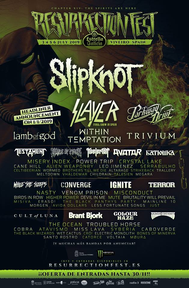 Resurrection Fest 2019 falta cabeza cartel
