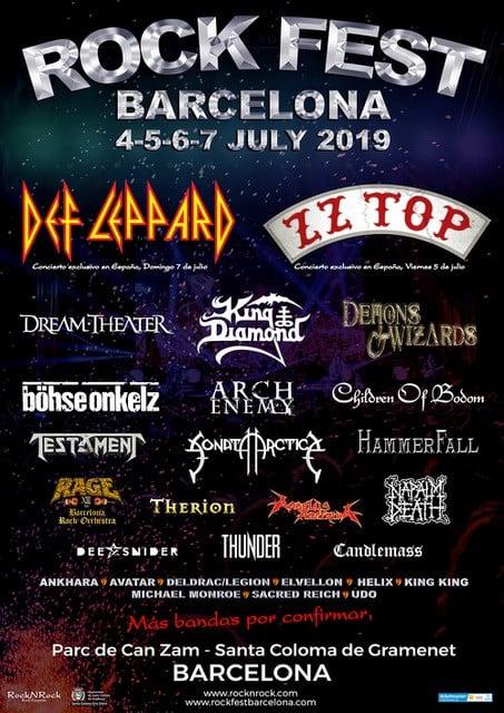 Cartel Rock Fest Barcelona 2019 Dream Theater Arch Enemy
