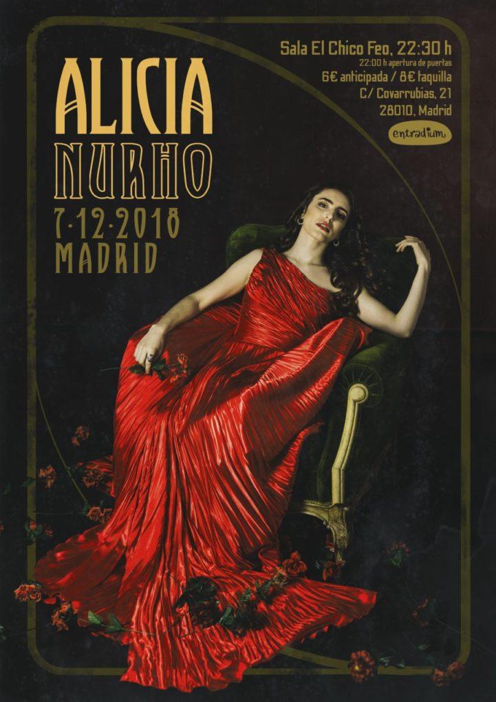 cartel Alicia Nuhro Madrid 2018