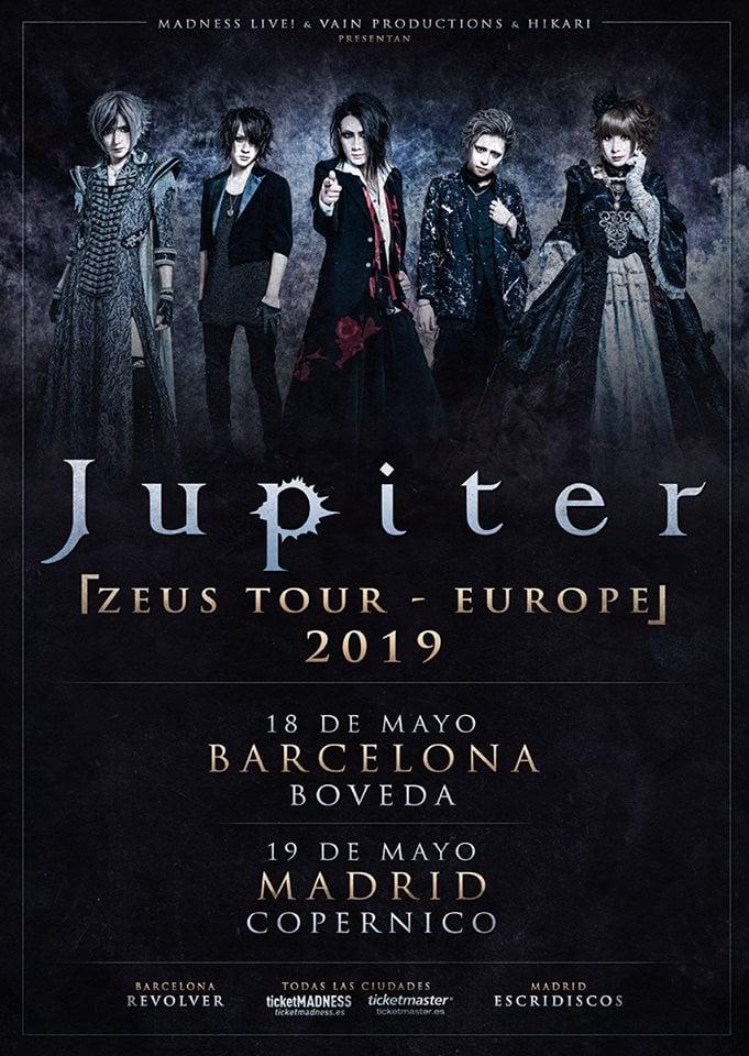 Gira Jupiter España 2019
