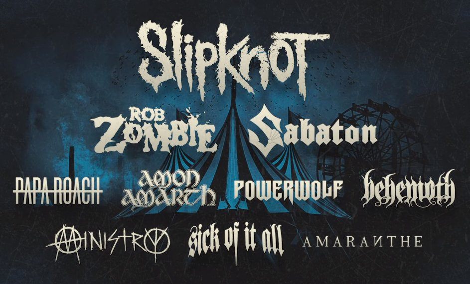 Cartel Knotfest 2019 Francia
