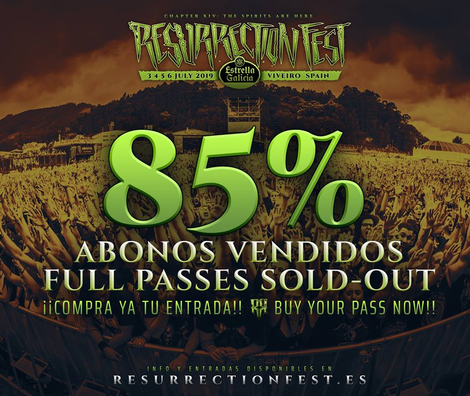 Resurrection Fest 85% abonos