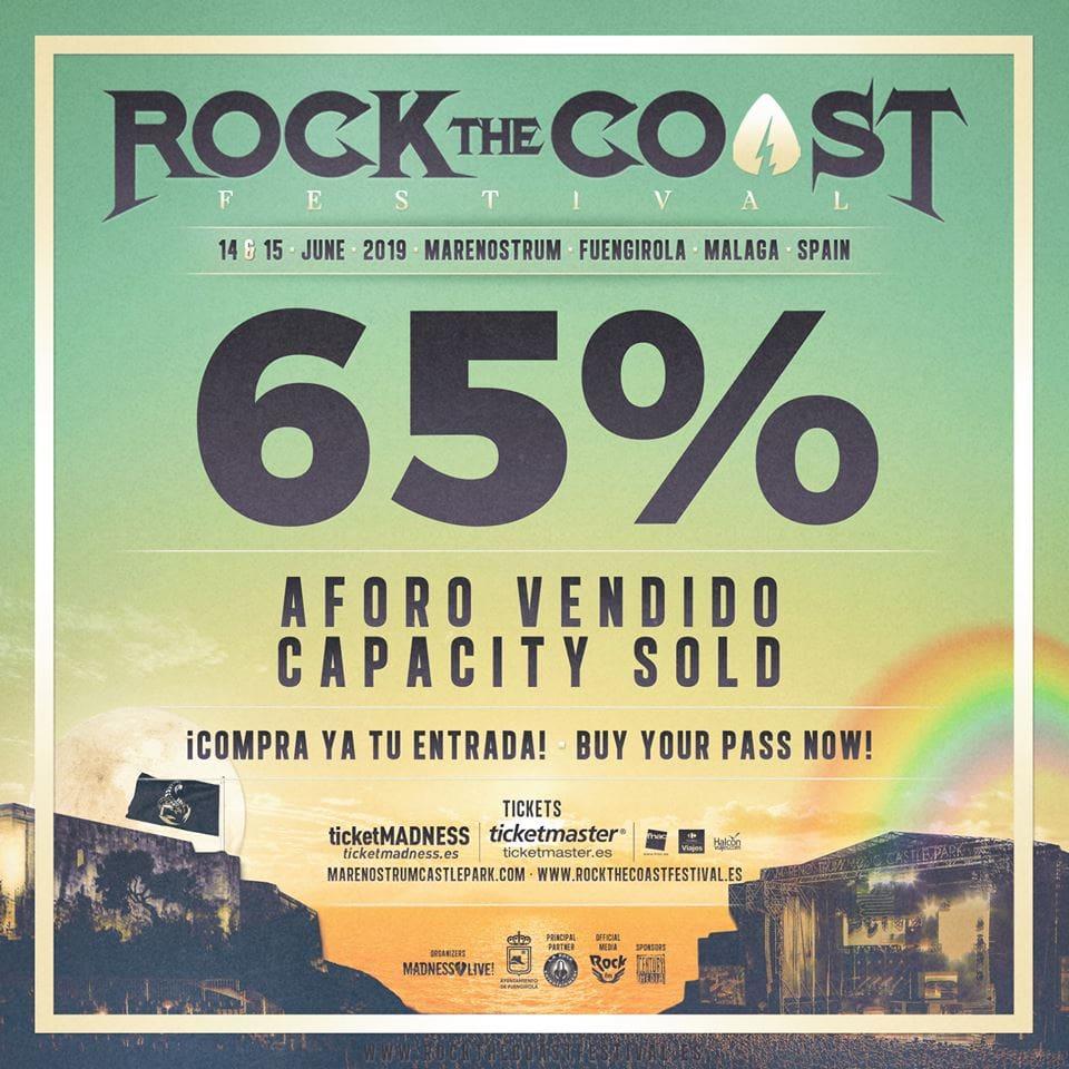 Rock The Coast 2019 65% vendido