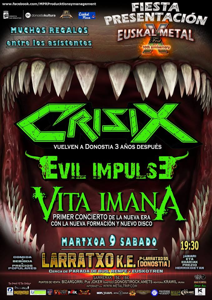 Vita Imana Crisix Evil Impulse Donosti 2019