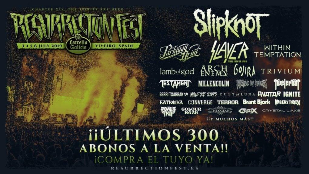 300 abonos Resurrection Fest 2019 sold out