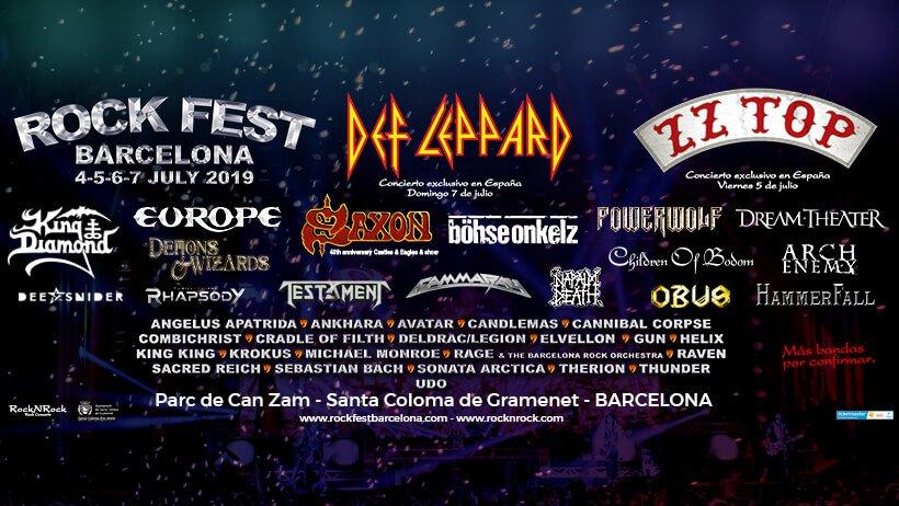 Confirmaciones Rock Fest Barcelona 2019 Europe