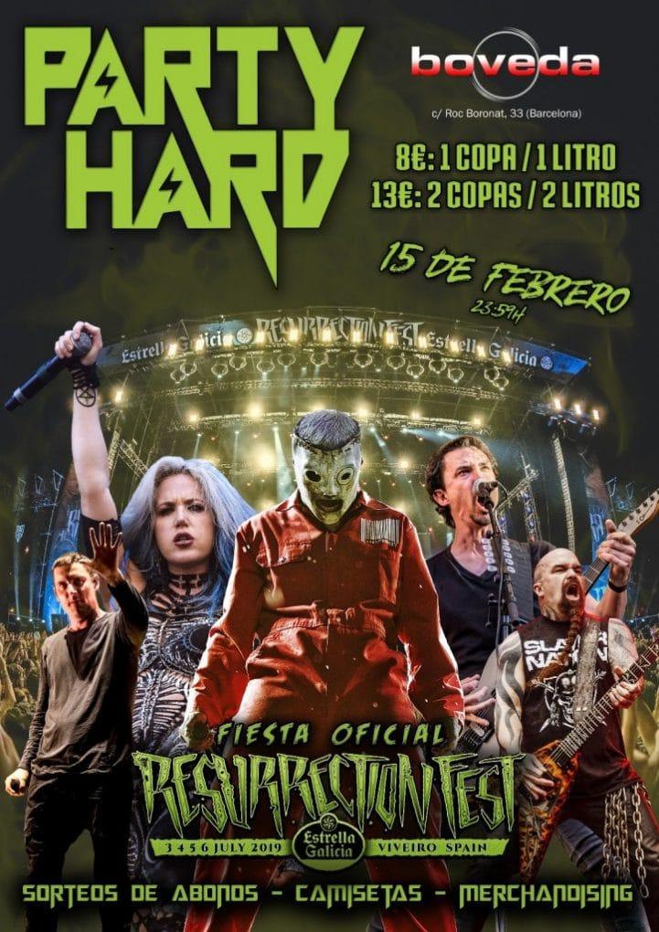 Party Hard Resurrection Fest 2019 Barcelona