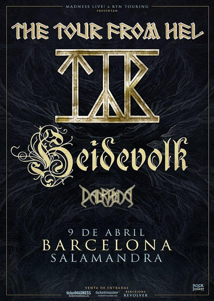 Týr Heidevolk Dalriada Barcelona
