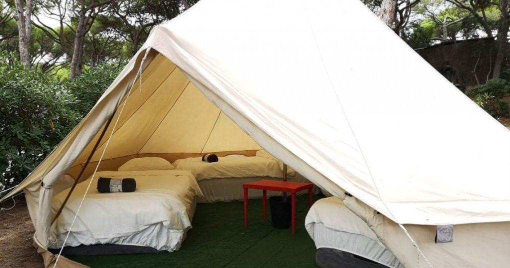 Bell Tent camping Azkena Rock Festival