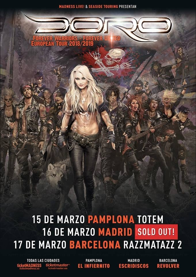 Doro Madrid sold out 2019
