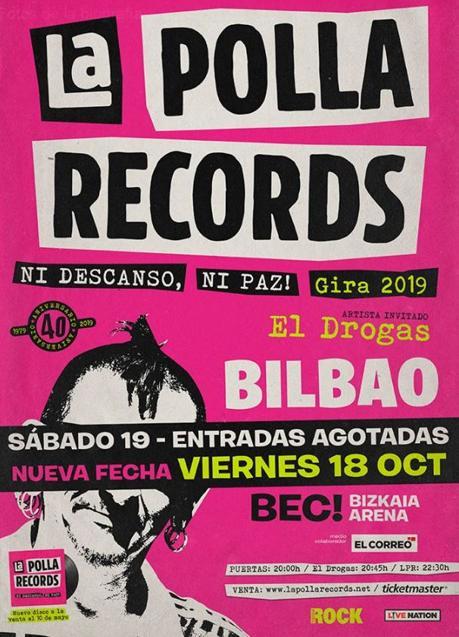 La Polla Records Bilbao 2019 doble fecha