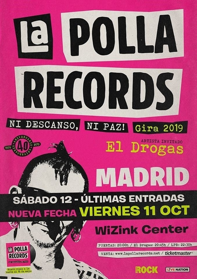 La Polla Records Madrid 2019 doble fecha