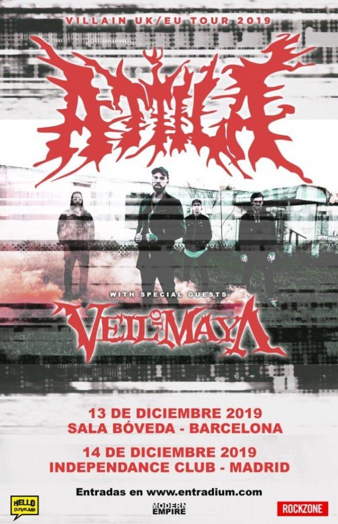 Attila Veil Of Maya España 2019