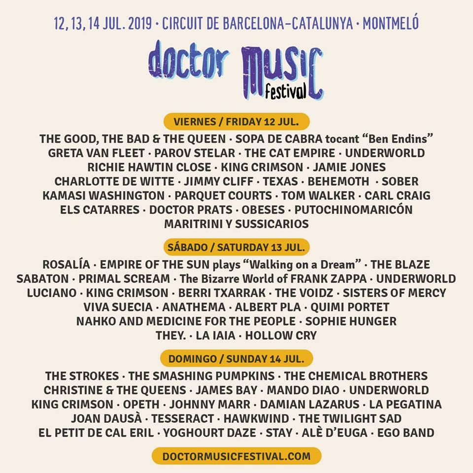 Cartel Doctor Music Festival 2019 abril