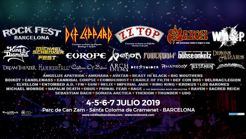 cartel Rock Fest Barcelona 2019 horizontal