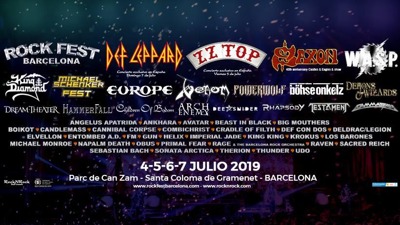 cartel Rock Fest Barcelona 2019 horizontal