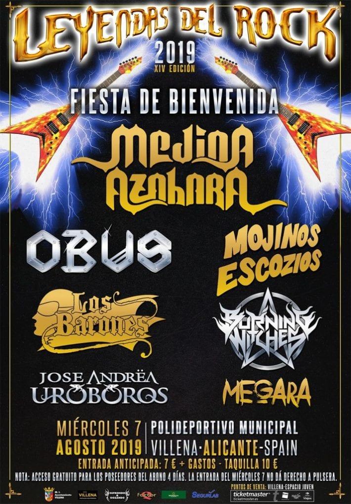 Fiesta bienvenida Leyendas del Rock 2019
