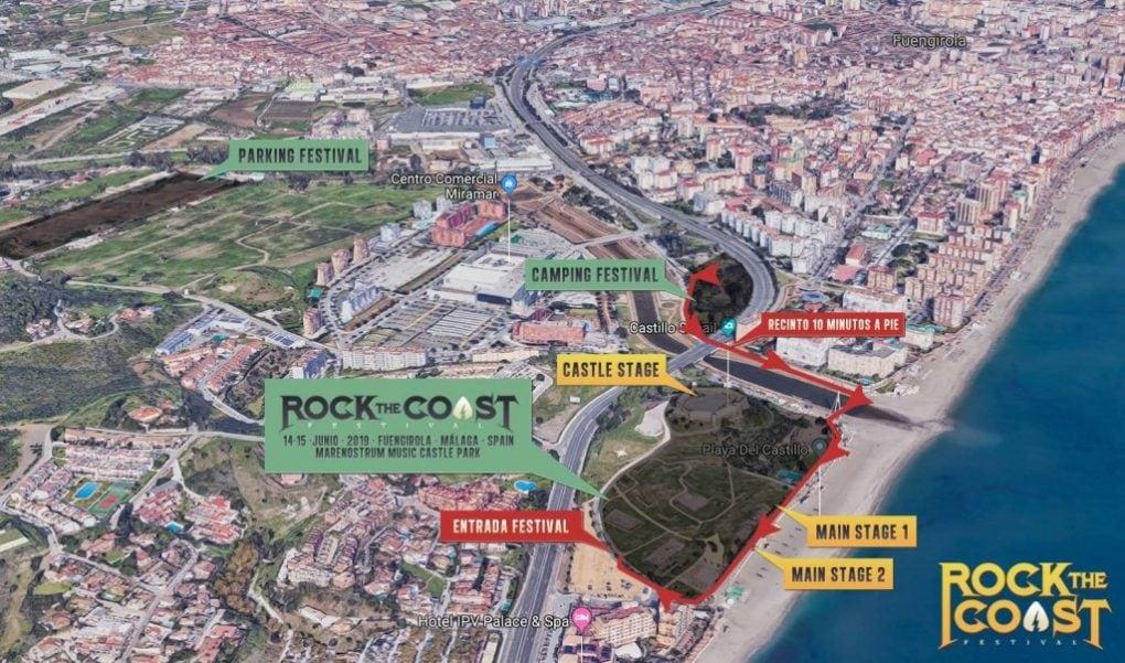 Mapa Rock The Coast 2019