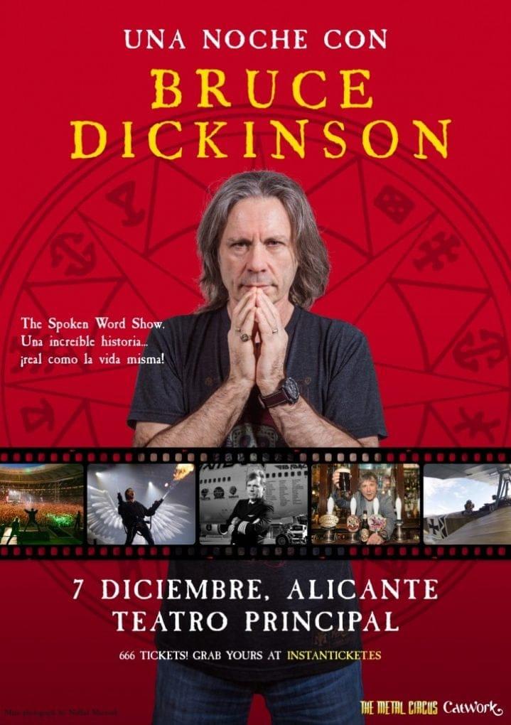 Cartel Bruce Dickinson Alicante 2019