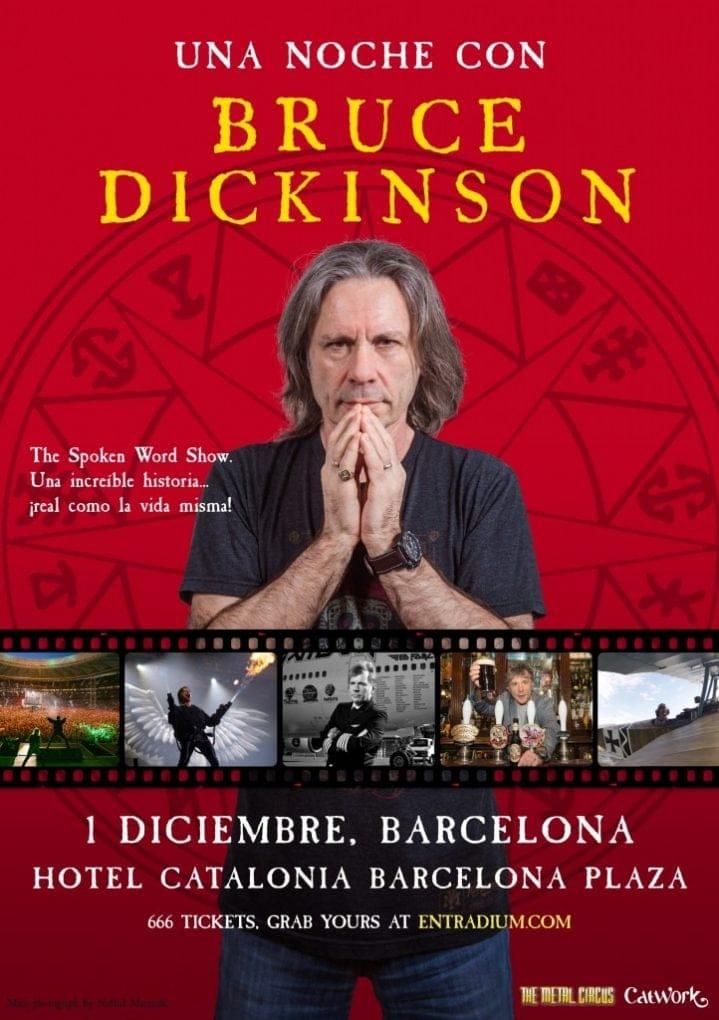 Cartel Bruce Dickinson Barcelona 2019