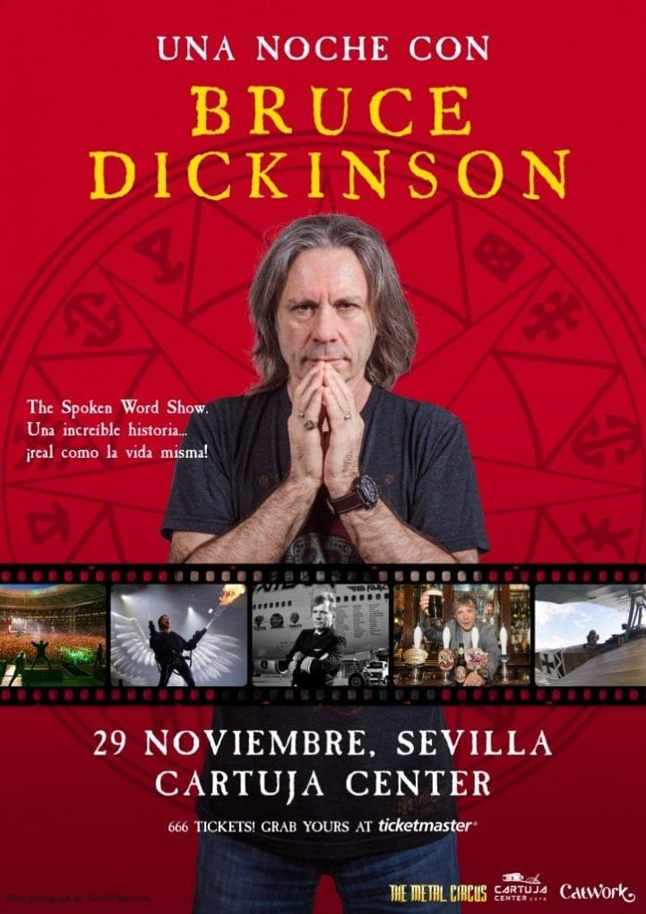 Cartel Bruce Dickinson Sevilla 2019