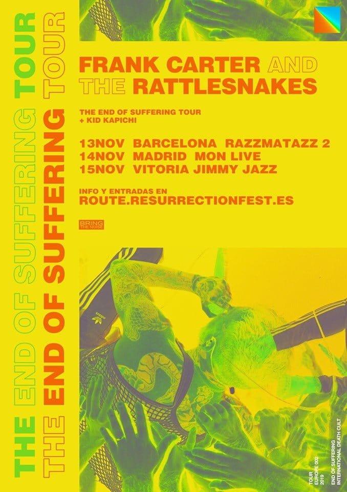 Frank Carter & The Rattlesnakes España 2019