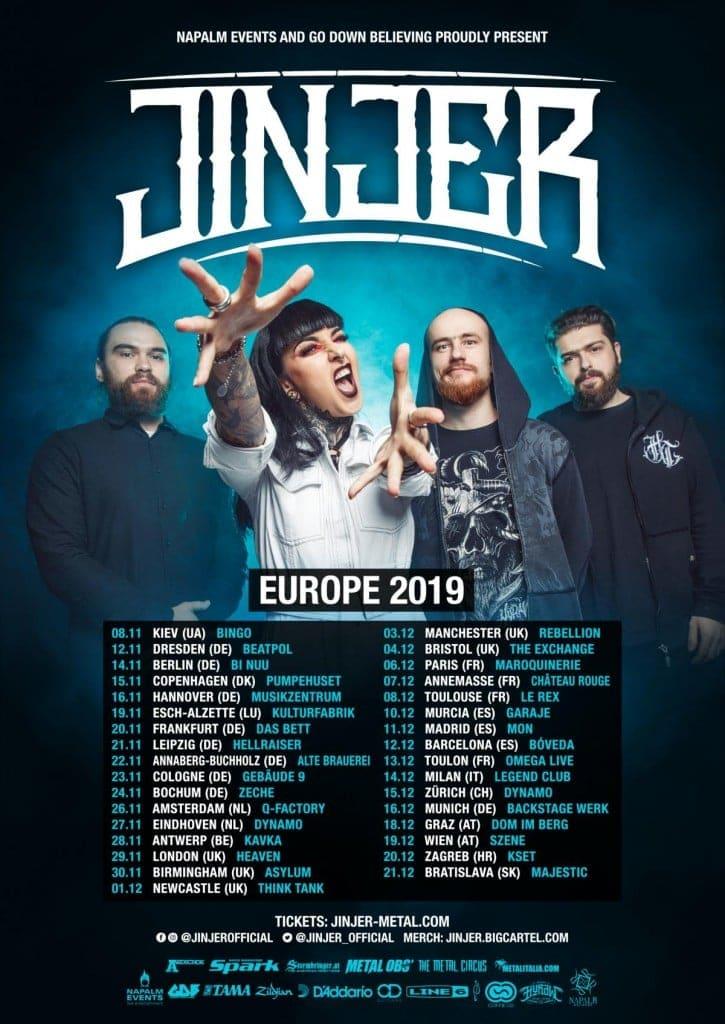 Gira Jinjer Europa 2019