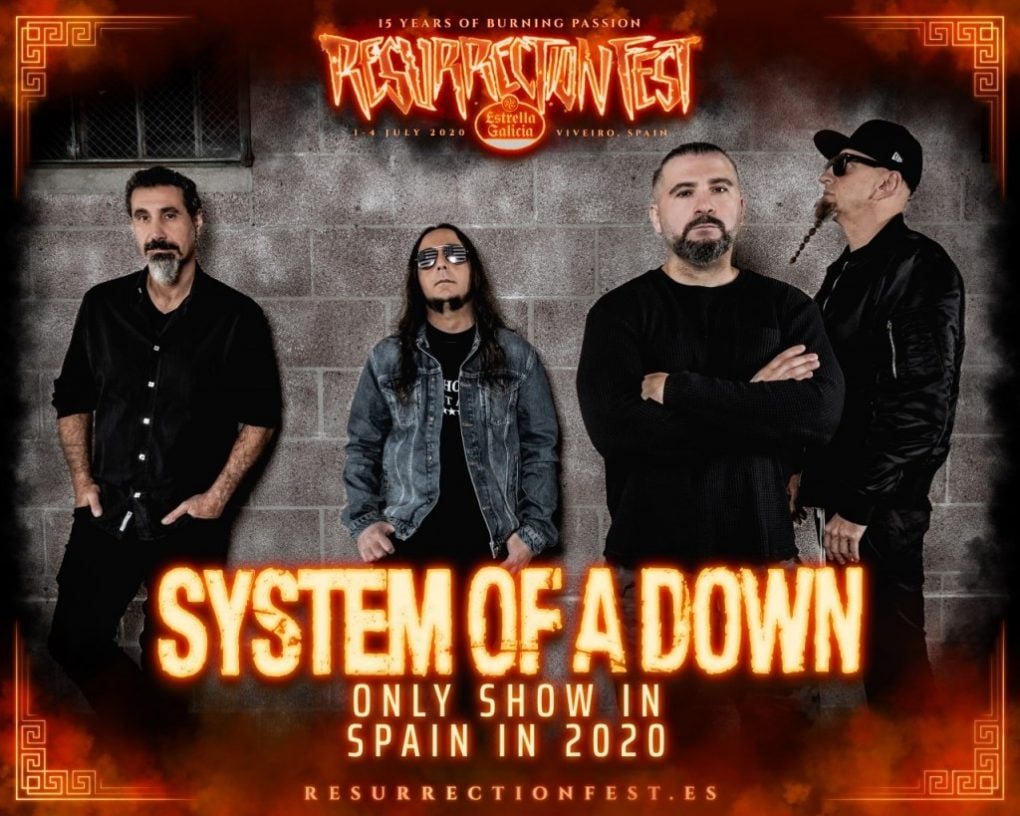 System On A Down Resurrection Fest 2020 promo