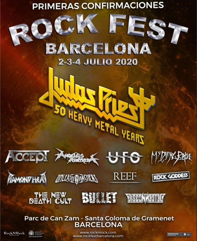 Judas Priest Rock Fest Barcelona 2020 primeras confirmaciones