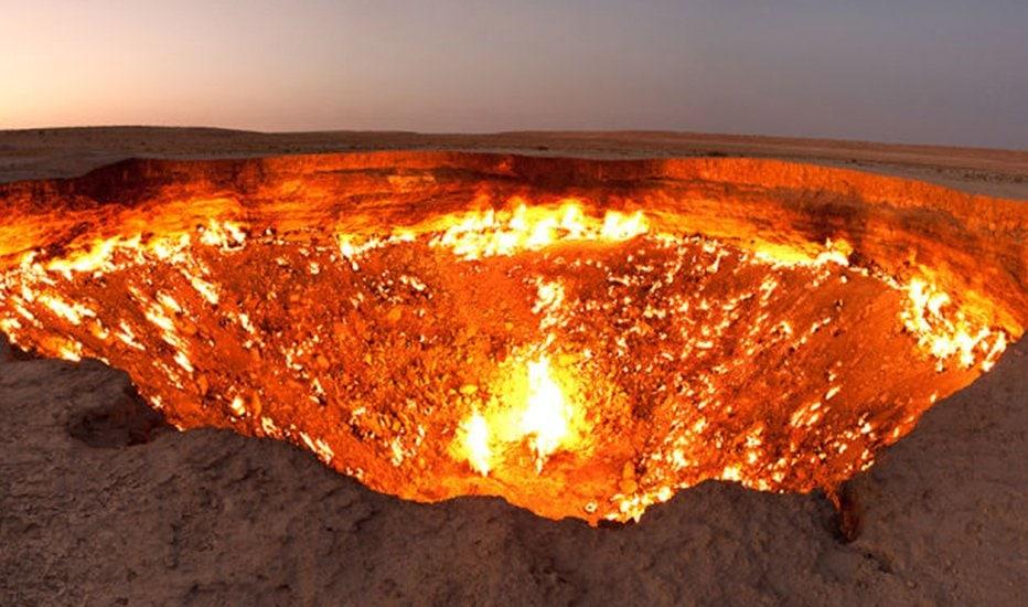 Puerta del Infierno Darvaza Turkmenistán